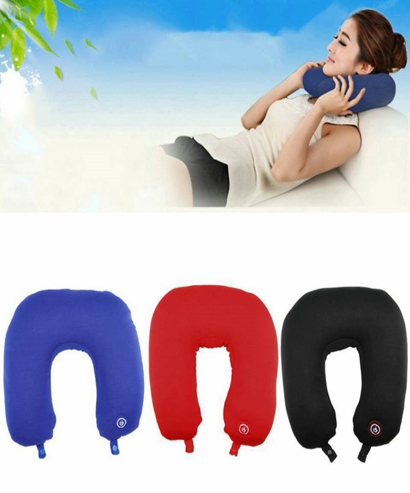 Travel Pillow with Neck Massager